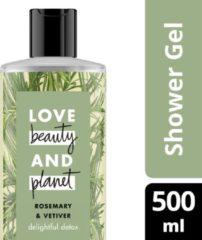 Love Beauty and Planet Delightful Detox Rosemary & Vetiver Douchegel 500 ml