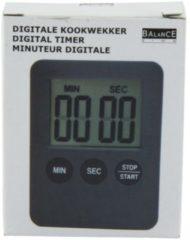 Zilveren Balance HE-Clock-70 Digitalekookwekker Grijs/Zwart