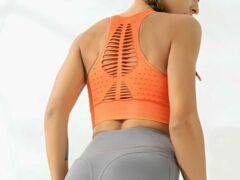 Merkloos / Sans marque Sport bh oranje | maat S