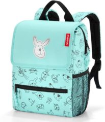 Groene Reisenthel Backpack Kids Rugzak - Polyester - 5L - Cats&Dogs Mint