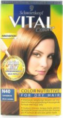 Schwarzkopf Vital Colours Royal Jelly - 40 Toffee Bruin - Haarverf