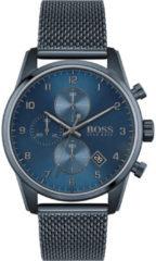 Hugo Boss BOSS HB1513836 SKYMASTER - Horloge - Staal - Blauw - Ø 44 mm