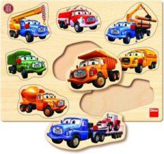 Dino Toys Tatra houten noppenpuzzel vrachtwagen 8 stukjes