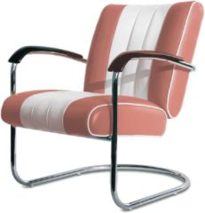 Roze Bel Air Retro Fifties Furniture Bel Air Retro Loungestoel LC-01 Dusty Rose