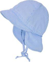 Maximo zonnehoedje kind met nekbescherming Blauw-Wit 41