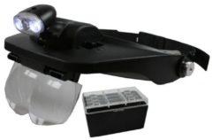 Zwarte Hofftech Benson LED Hoofdloep met 4 Lenzen