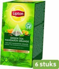 Lipton Tea Company Lipton tea exclusive selection groen thee mandarijn sinaasappel 25 builtjes