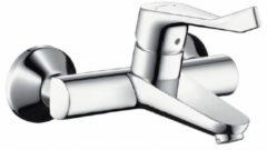 Hansgrohe Focus Care opbouw wandkraan met koppelingen met verlengde greep 12.1cm EcoSmart chroom 31913000