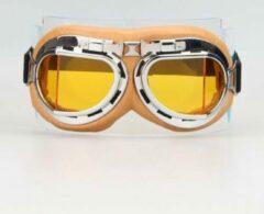 CRG Creme pilotenbril geel glas