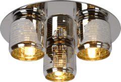 Gouden Lucide ERYN - Plafonnière - Ø 38 cm - 3xG9 - Chroom