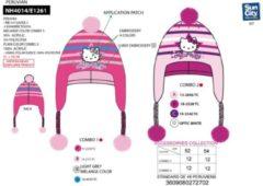 Suncity Hello Kitty muts donker roze maat 52
