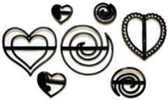 Zwarte PatchworkCutter Patchwork Cutter Swirls & Hearts
