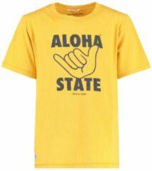 America Today Junior T-shirt Eamon met printopdruk geel