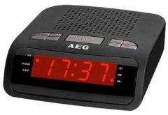 Zwarte Quadra AEG MRC 4142 CLOCK RADIO