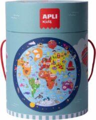 APLI Kids Wereldkaart puzzel rond