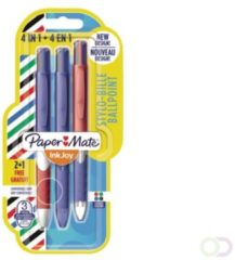Papermate InkJoy Quatro Multi kleuren Clip-on retractable ballpoint pen Medium 3 stuk(s)
