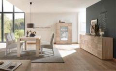 Esszimmer Eiche Sonoma mit Siebdruck Classico Z-Miro