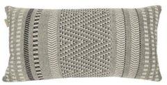 Witte Malagoon - Native stripe cotton offwhite cushion 35x65cm