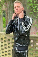 Zwarte Mr Riegillio PVC Tracksuit Jasje