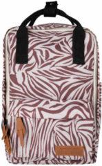 Little Indians rugzak zebraprint donker oudroze/wit