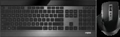 Zwarte Rapoo 9900M Wireless ultra-slim Multi-Mode-Deskset, UI, black