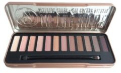 Huidskleurige W7 Natural Nudes Eye Colour Palette - In The Nude - Oogschaduw Palet