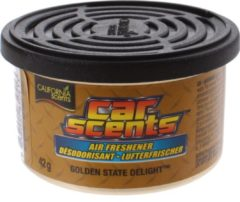 Gele California Scents Luchtverfrisser Blik Golden State Delight 42 Gram
