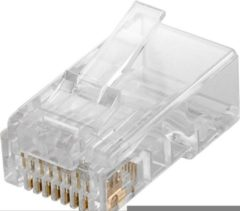 Transparante Goobay 10x RJ45 UTP Cat5e stekkers / stekker / netwerkstekker / datastekkers