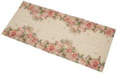 Beige Tischläufer Rosen, 40 x 90 cm, mit Rosenmuster