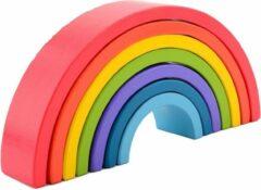 Jouéco regenboog blokken 7-delig