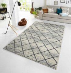 Zilveren Zala Living Design vloerkleed Rhombe - crème/grijs 140x200 cm