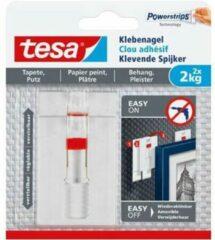 Witte Tesa - 77777 - verstelbare klevende spijker voor behang en pleister - tot 2kg - 8x 2 stuks