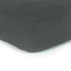Donkergrijze Y-NOT - Effen Hoeslaken Matras - Katoen - 160x200 + 30 cm - Donker grijs