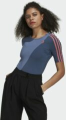 Marineblauwe Adidas Adicolor Sliced Trefoil Bodysuit