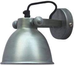 Zilveren Urban Interiors - Industriële Wandlamp Industrial ø12cm Antique Zink
