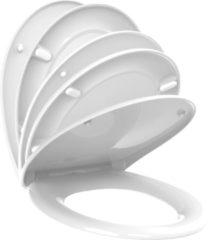 Witte Allibert wc-bril VITO - thermodure - soft close - inox scharnieren - afklikbaar - wit