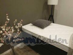 Zwarte Dreambedden Hotel boxspring 120x190 Carlton ( Zonder Hoofdbord ) Twijfelaar incl. Tencel HR55 koudschuim topper