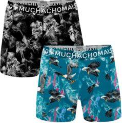 Muchachomalo - Boxershort Heren - 2 pack - Clinton Affair - Blauw - Maat M