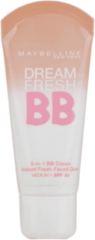 Creme witte Maybelline Dream Fresh BB Cream - Light Medium - 3 stuks Voordeelverpakking