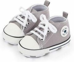 Grijze Canvas Baby Schoenen-Kinderschoenen-Schoenen voor baby's-Eerste Wandelaars-Meisjes Eerste Wandelaars-Kinderschoenen voor baby's-Baby schoenen Pasgeboren-Baby-Jongens-Zachte Zool-Baby schoenen-kinderschoenen Jongen-Babyschoenen -Schoenen-0-6M