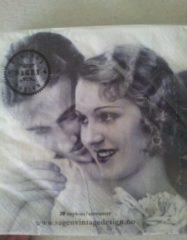 Witte Sagen Vintage Design Servetten Vintage love
