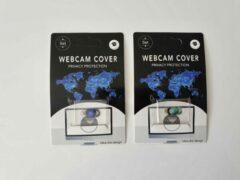 Merkloos / Sans marque Universeel Ultra Dun Webcam Cover - 2 stuks - Privacy Schuifje - Webcam Slide - Webcam Shutter - Geschikt voor Macbook, Laptop, Tablet, Smartphone - Blauw en Groen