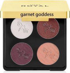 Donkerrode Jafra Royal Luxury Eyeshadow Quad Garnet Goddes