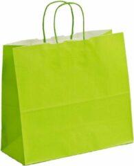 ArtiPack Papieren tassen Lichtgroen - 18x8x25 cm - Lime - Gedraaide grepen - 50 stuks