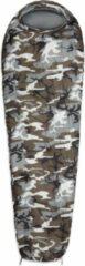 Lumaland Where Tomorrow outdoor slaapzak | Klein en zacht | 220 x 80 cm x 50 cm, inclusief opbergzak |ingepakt 26 x 14 cm | 700g | camouflage grijs