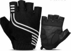 Zwarte HANDT Bike sporthandschoenen - Black - L
