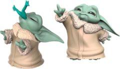 Hasbro baby Yoda Star Wars junior 5,5 cm groen/crème 2-delig
