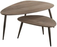 Zaloni Salontafel set Triangel Small - Eiken