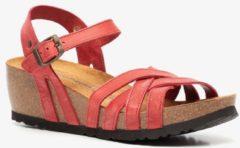 Hush Puppies leren dames bio sandalen met sleehak - Rood - Maat 40