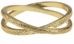 Lauren Sterk Amsterdam - ring - gekruist - small - goud verguld - coating